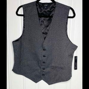 NWT Apt. 9 Men's Gray Button Vest Size Large